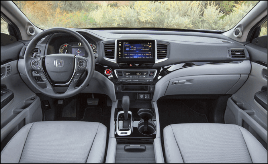 2017 Honda Ridgeline Dash