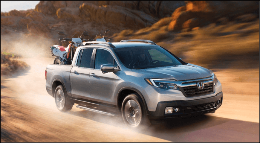 2017 Honda Ridgeline dusty