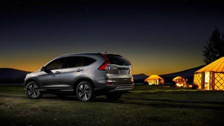 Honda CR-V on campground