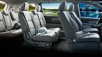Interior. Honda. The Pilot Offers Room For Eight Within 152.9 Cubic Feet Of  Passenger Space, With Enough Room Left Over To Accommodate An 82 Quart  Cooler ...