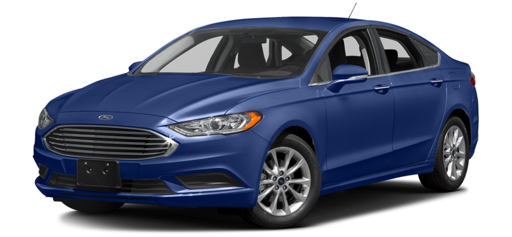 2017 Ford Fusion blue exterior