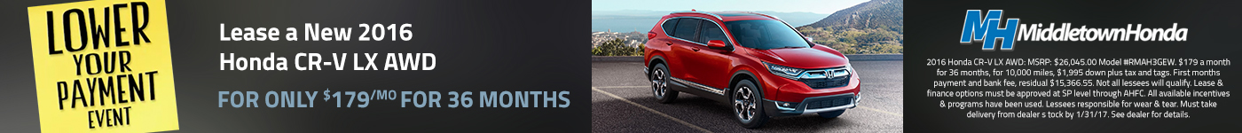middletown honda lower your payment event cr-v