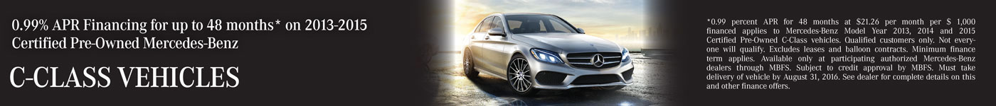 0.99% APR Financing on C-Class