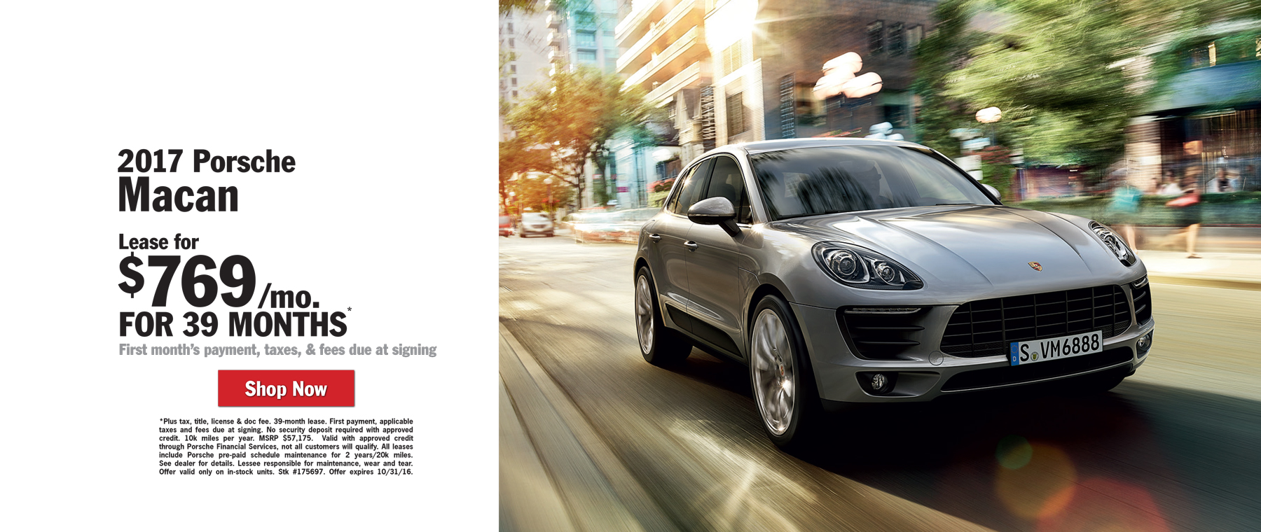 Porsche Macan Lease for $769 / mo