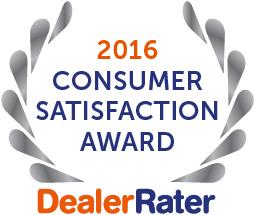 2016 DealerRater Award