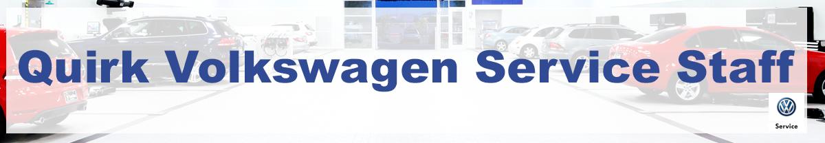 Meet the service staff at Quirk Volkswagen