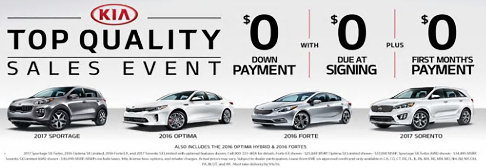Top Quality Sales Event