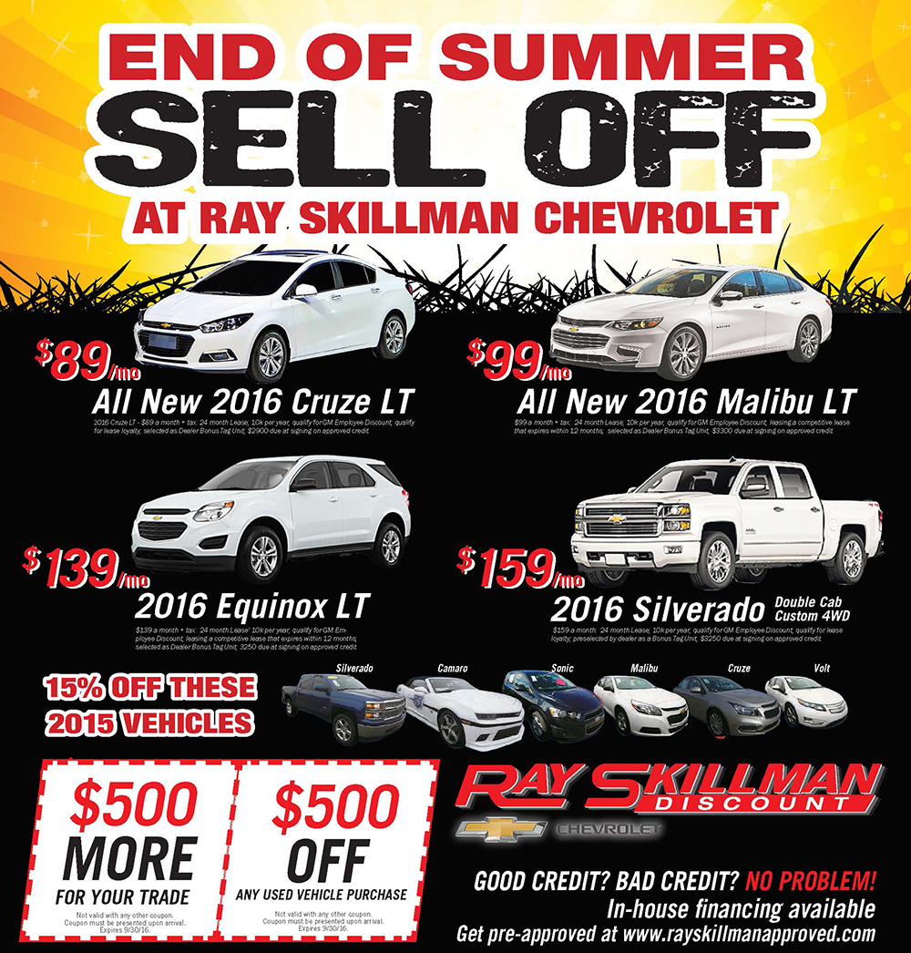 Ray skillman coupons