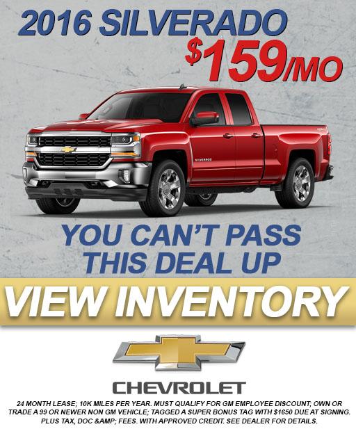 2016 Silverado $159/mo Indianapolis