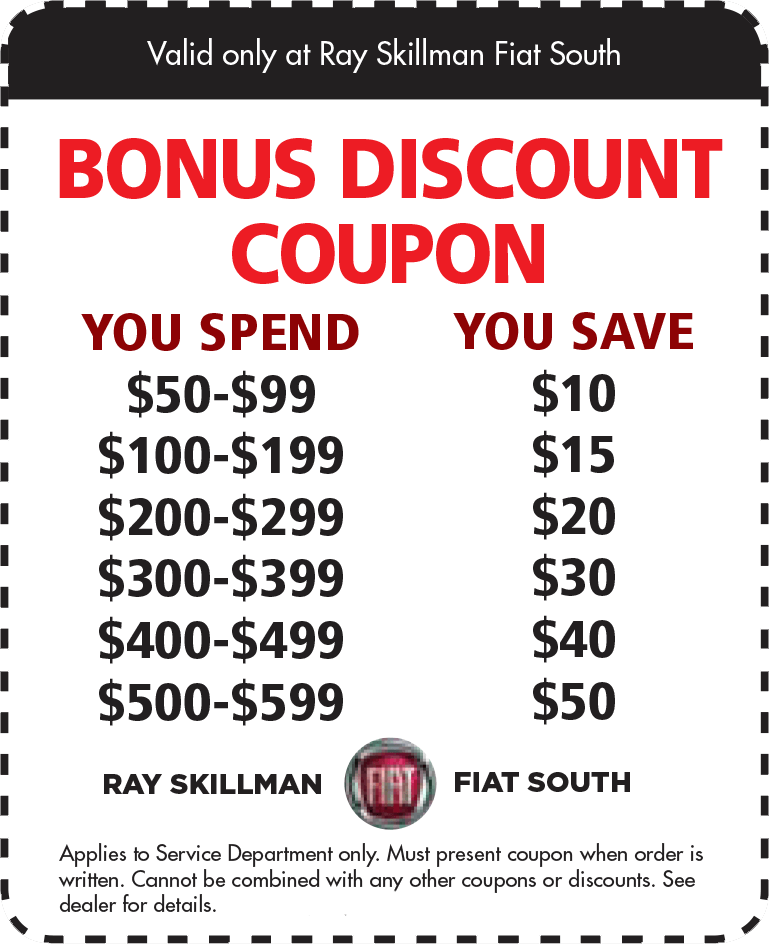 Buy Here Pay Here Indianapolis >> Auto Service Specials | Ray Skillman FIAT South near Indianapolis