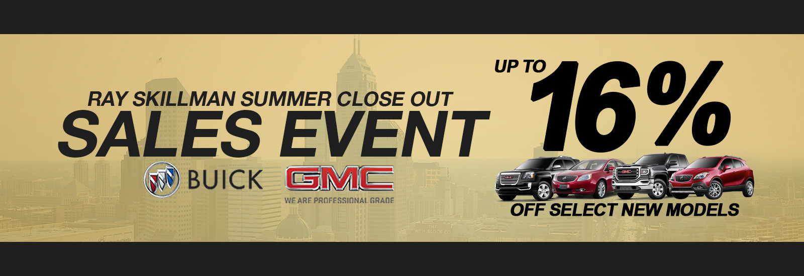 Summer Sales Event Up to 16% off select new models
