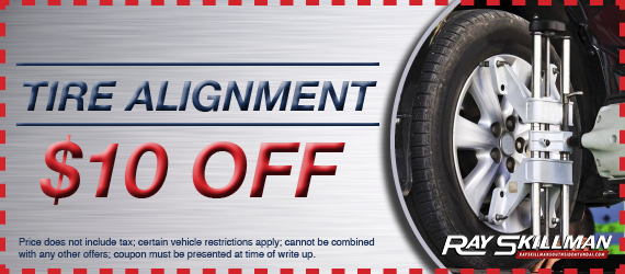 When your vehicle's suspension system is out of alignment, it can lead to unusual handling characteristics and uneven and premature tire wear, which can shorten the life expectancy of your tires. With proper alignment, you can maintain a longer life for .