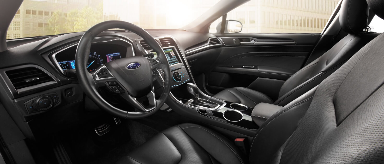 2016 Ford Fusion Hybrid front interior