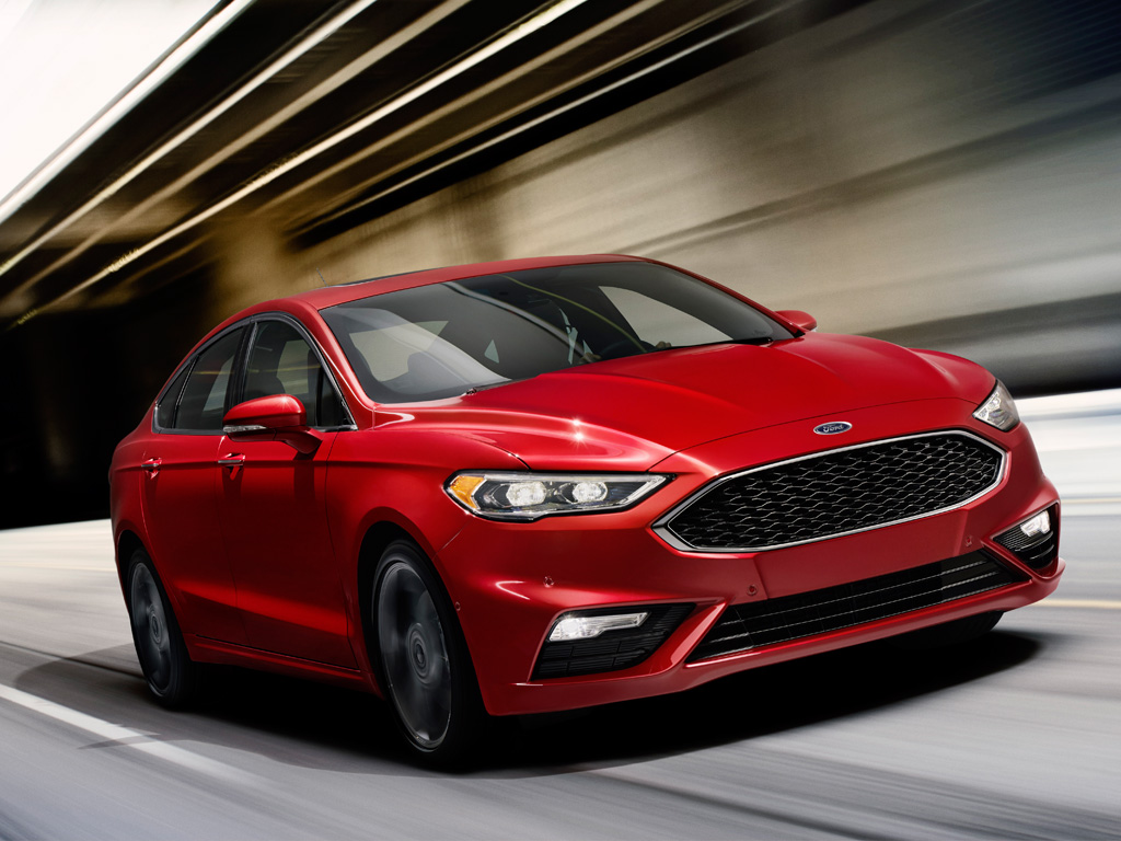 2016 Ford Fusion Sport red exterior