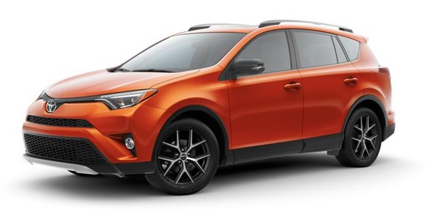 2016 Toyota RAV4 orange exterior