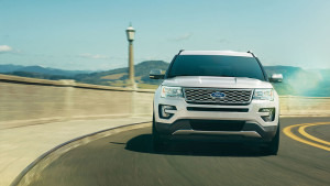 2017 Ford Explorer Driving On Road