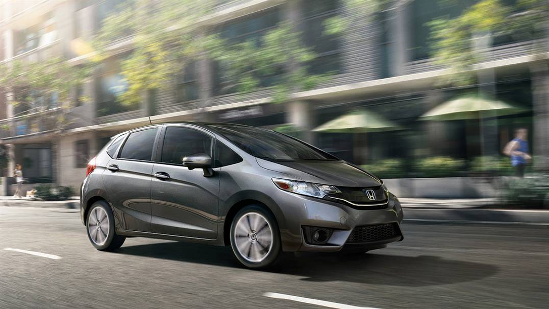 2016 Honda Fit on road