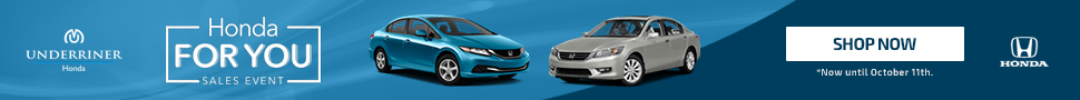 Underriner Honda For You Sales Event