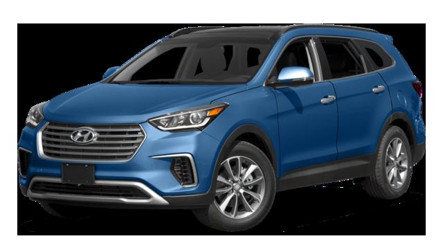 2017 Hyundai Santa Fe blue