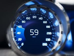 speedometer in concept coupe