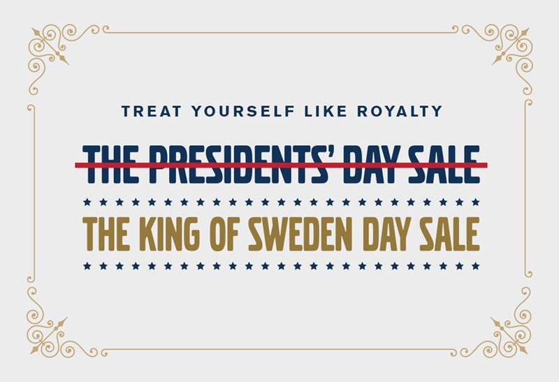 King of Sweden Day Sale