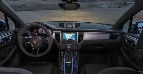 Interior of Porsche Macan S in Rancho Cucamonga