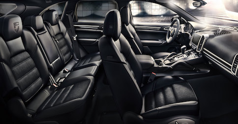 interior of the 2017 Porsche Cayenne