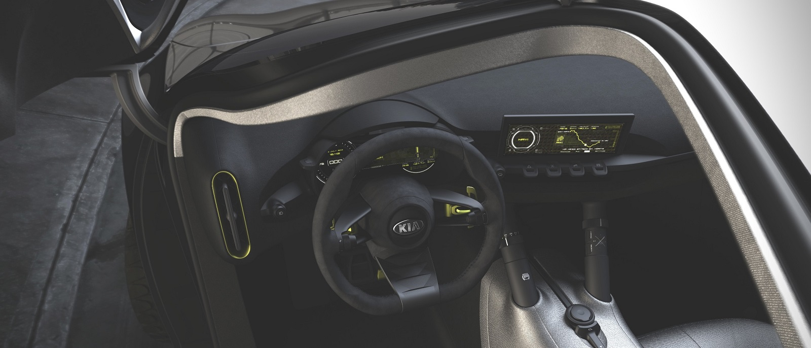 All new 2017 kia niro hybrid crossover at weston kia for Interior kia niro